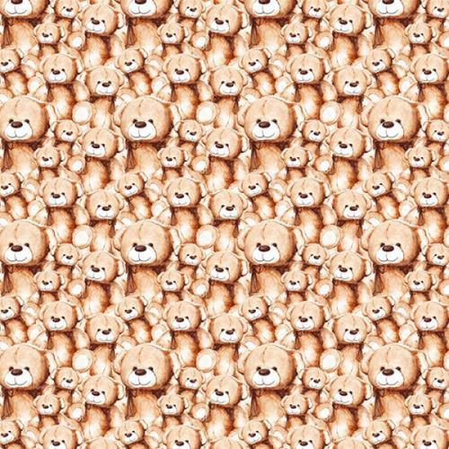 Chatham Glyn Teddy Bears Beige 100% Cotton (CG Teddy Bears)