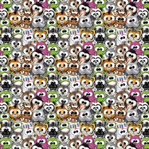 Chatham Glyn Friendly Animal Teddies Multicoloured 100% Cotton (CG Plush Animals 1)