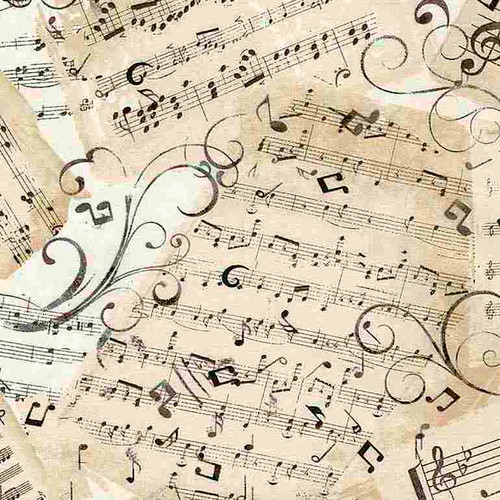 Timeless Treasures Symphony Music Sheets Natural Beige Cream 100% Cotton (TT Music Sheets)