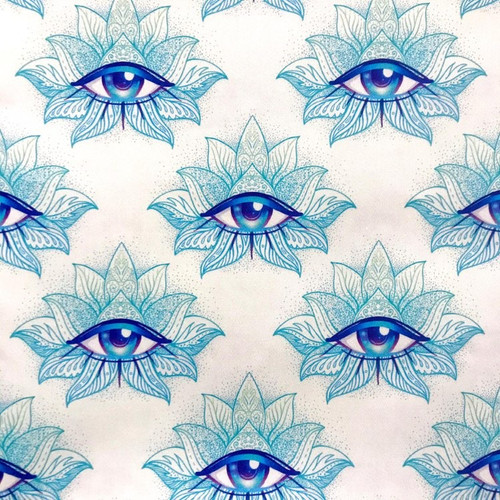 The Vintage Sweetheart Divine All Seeing Eye White 100% Cotton (VS All Seeing Eye - 1 METRE PIECE)