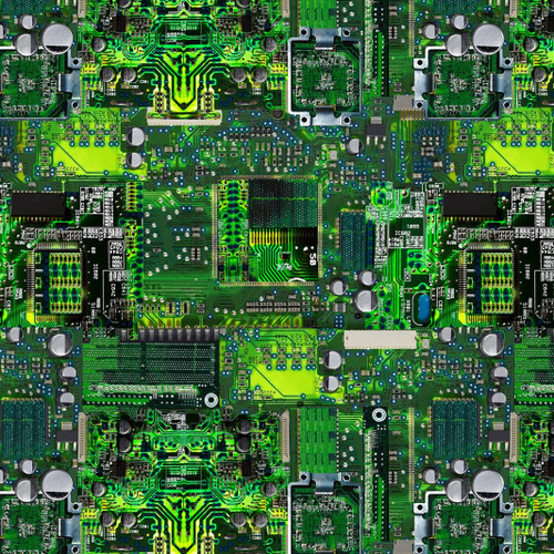 Timeless Treasures Math & Science Computer Circuit Board Green 100% Cotton (TT Circuit Board)
