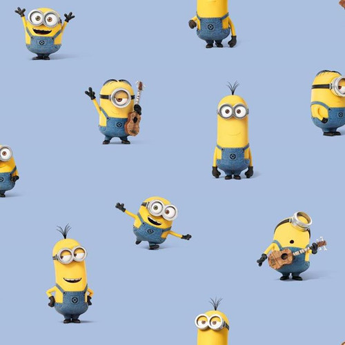 Chatham Glyn Universal Pictures Minions Blue 100% Cotton (CG Minions 3)