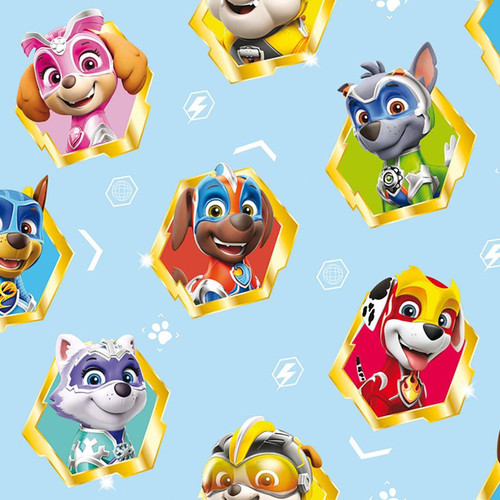 Chatham Glyn Paw Patrol Super Paws Hero Pups Blue 100% Cotton (CG Paw Patrol 6)