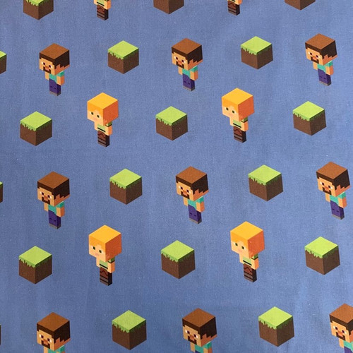 Springs Creative Mojang Minecraft Alex And Steve Toss Blue 100% Cotton (Minecraft 1)