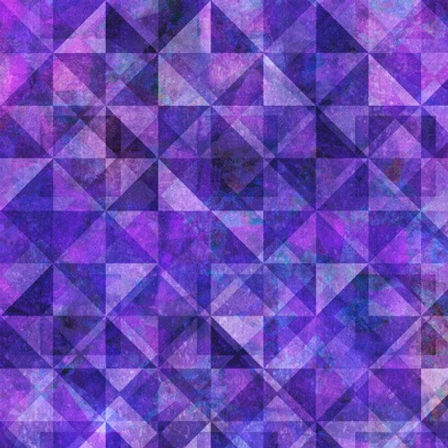 Quilting Treasures Reflections Evolution Quilted Allover Grape Purple 100% Cotton (QT Reflections 1)
