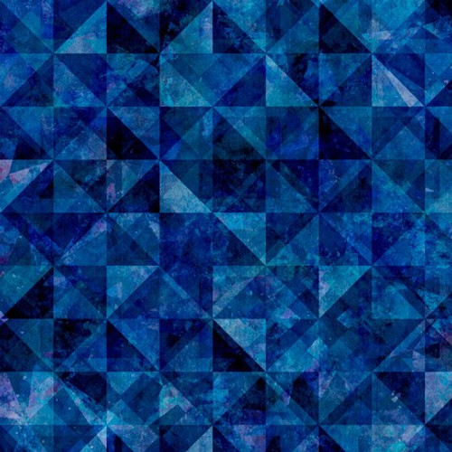Quilting Treasures Reflections Evolution Quilted Allover Midnight Blue 100% Cotton (QT Reflections 2)