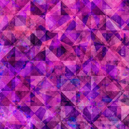 Quilting Treasures Reflections Evolution Quilted Allover Magenta 100% Cotton (QT Reflections 3)