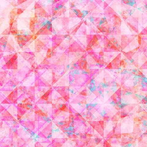 Quilting Treasures Reflections Evolution Quilted Allover Pink 100% Cotton (QT Reflections 6)