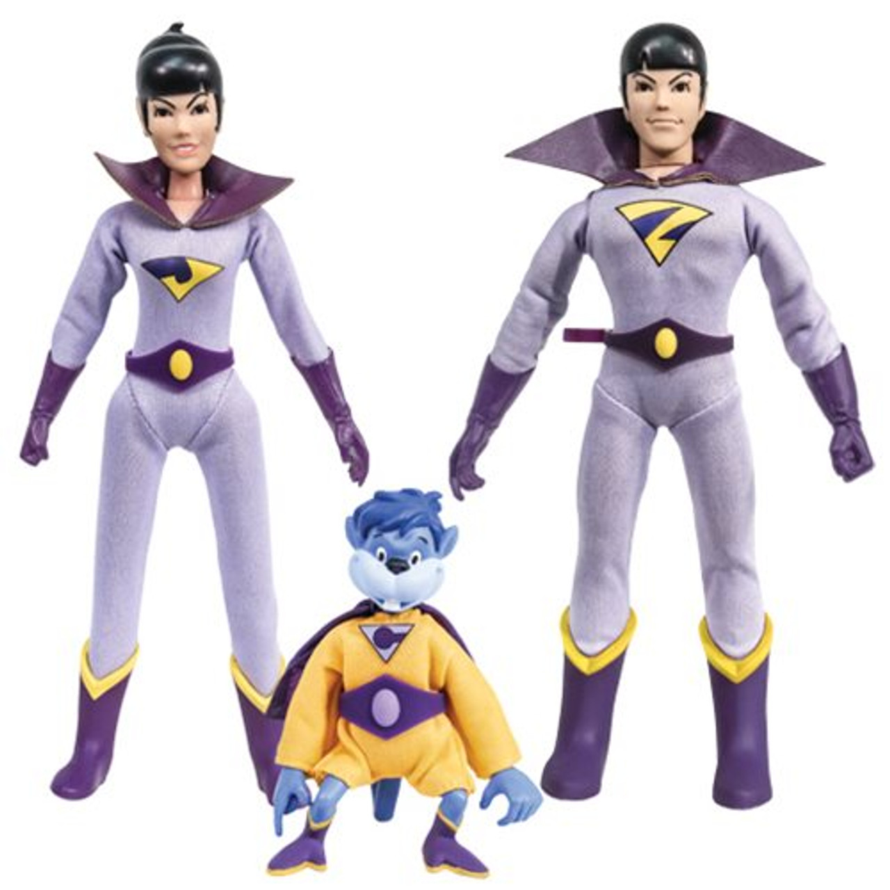 Super Friends 8 Inch Retro Style Action Figures Series 6 Set of all 4
