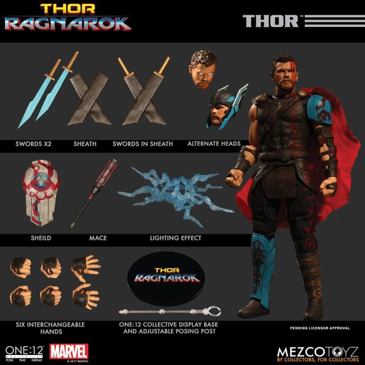 Thor Ragnarok Thor One 12 Collective Action Figure Mikescomicsnstuff