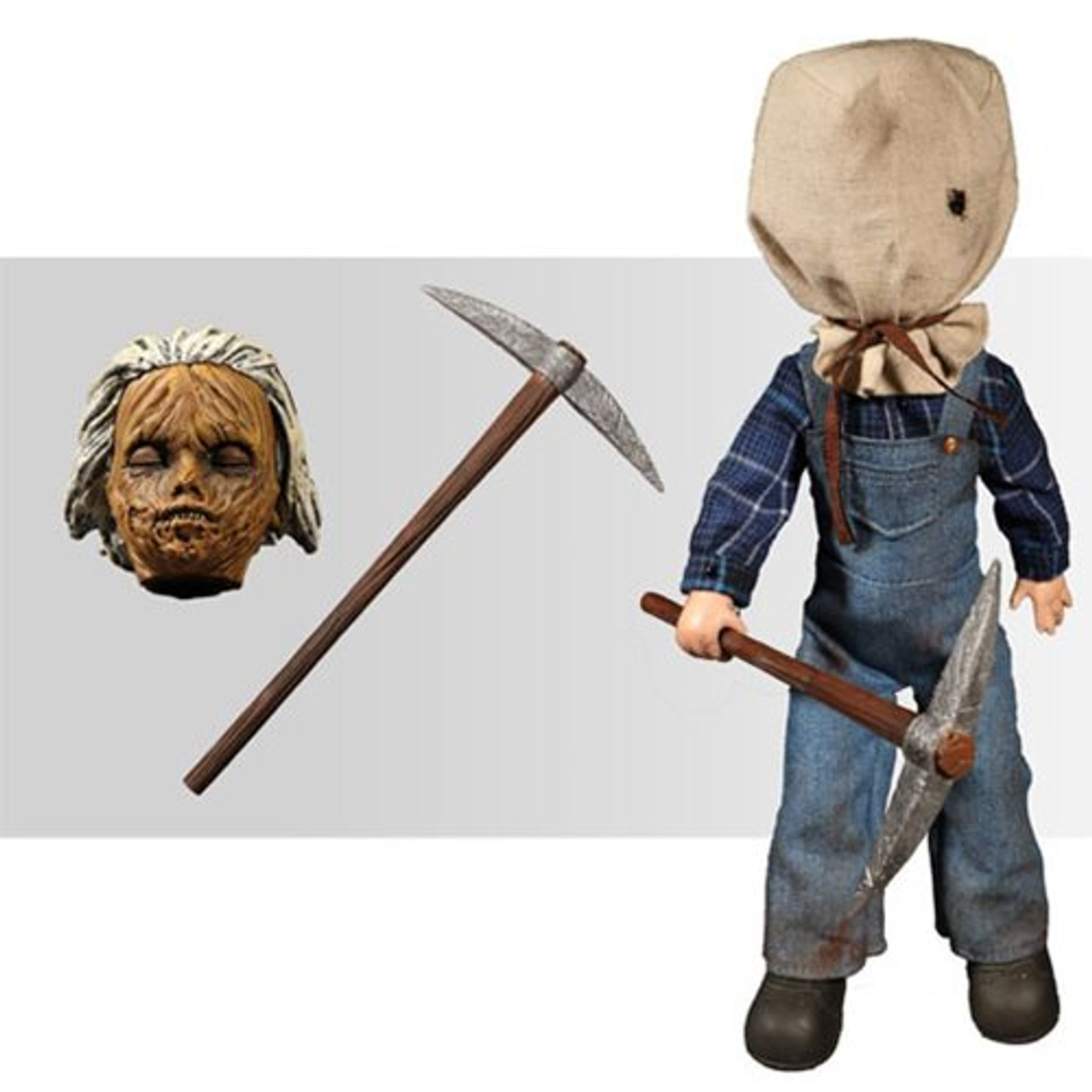 """10/"""" FIGURE LIVING DEAD DOLL JASON VORHEES FRIDAY 13TH PART 2 IN STOCK MEZCO"""