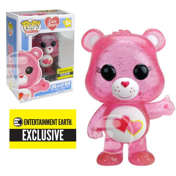 Care Bears Glitter Love-a-Lot Bear Pop! Figure EE Exclusive