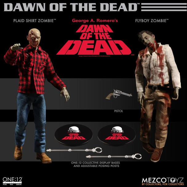 Dawn of the Dead Fly Boy and Plaid Zombie One:12 Collective Boxed Set