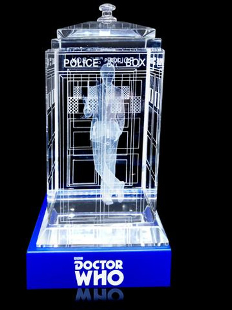 10th Doctor (David Tennant) Crystal TARDIS - Doctor Who