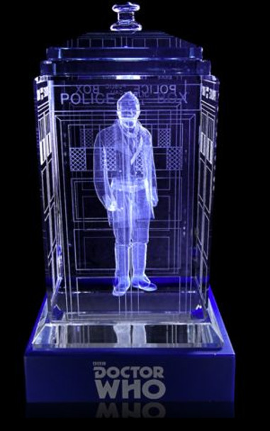 War Doctor (John Hurt) Crystal TARDIS - Doctor Who