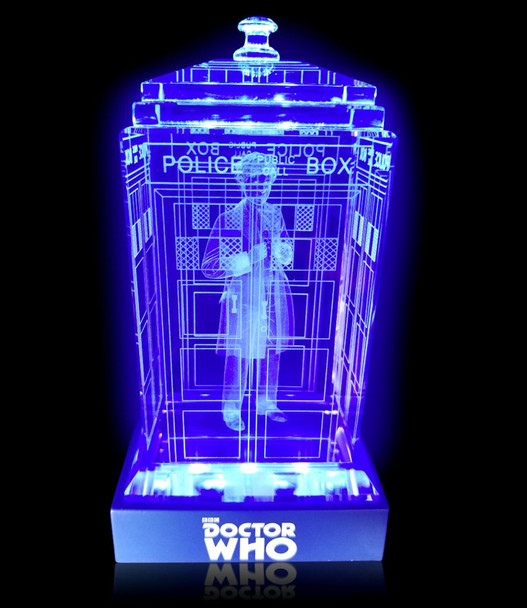 6th Doctor (Colin Baker) Crystal TARDIS - Doctor Who