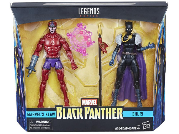 Black Panther Marvel Legends Shuri and Klaw 6-Inch Action Figures