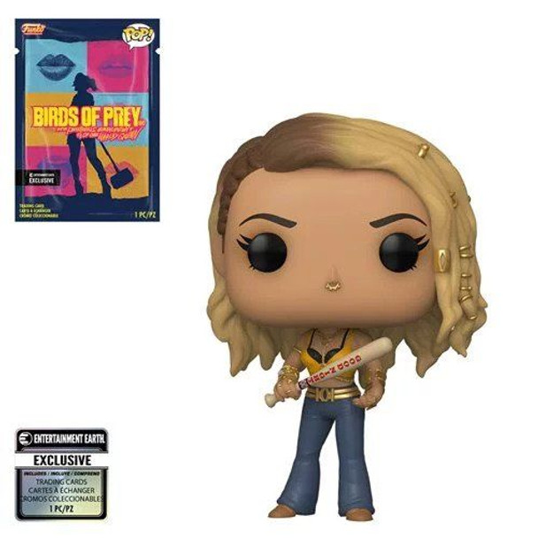 Birds of Prey Black Canary Pop! Vinyl Figure with Collectible Card - Entertainment Earth Exclusive