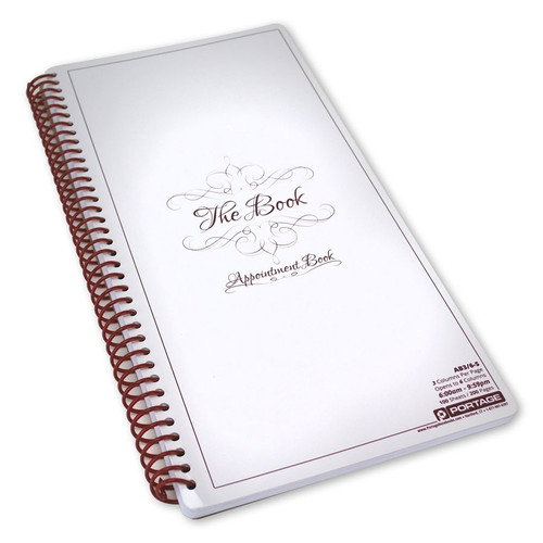 3 column appointment book 200 pages portage notebooks