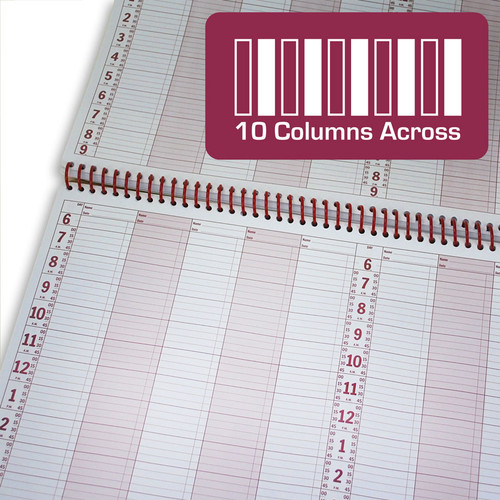10 Column Appointment Book - 200 Pages - Top Binding