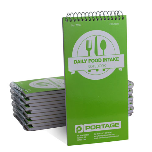 """1 Dozen   Daily Food Intake Log / Notebook #7600   4"""" x 8"""""""