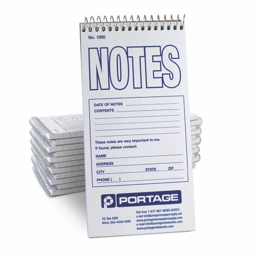 "1 Dozen | NOTES Notebook #1000 | Narrow Ruled | 4"" x 8"""