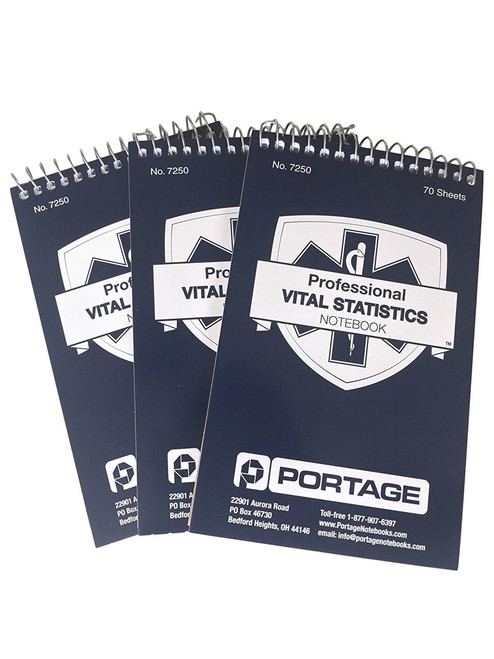 "3 Pack | Professional EMT / Paramedics Notebooks #7250 | 3.75"" x 6"""