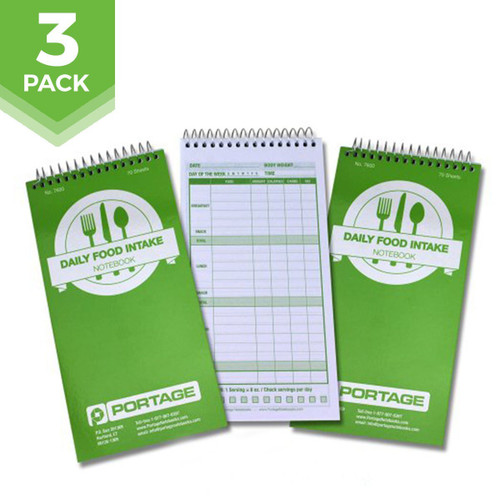 "3 Pack | Daily Food Intake Log / Notebook #7600 | 4"" x 8"""