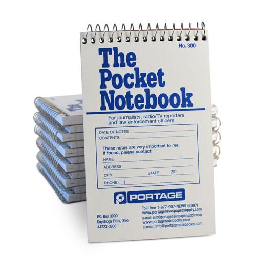 "1 Dozen   THE POCKET Notebook # 300   Wide Ruled   3.75"" x 6"""