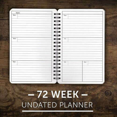 72 Week Undated Planner