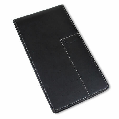 """Leather Reporter's Notebook Cover CL48-BL   4"""" X 8"""""""