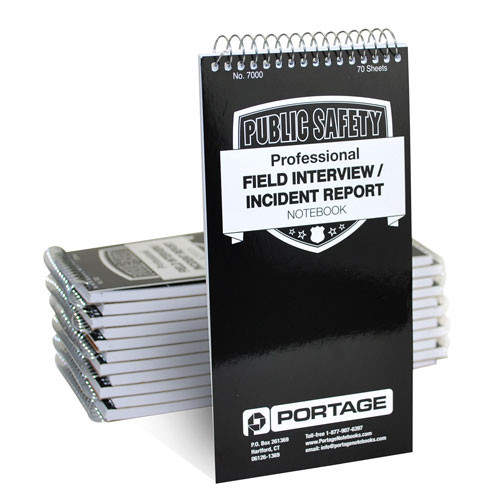 "1 Dozen | Police Field Interview Notebooks  #7000 | 4"" x 8"""