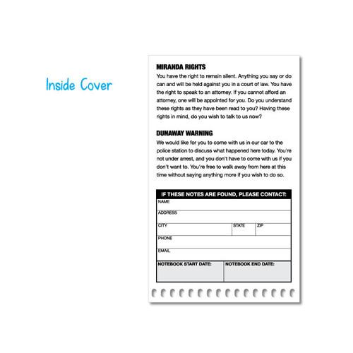 "1 Dozen | Pocket Sized Police Field Interview Notebooks #8000 |  3.75"" x 6"""