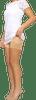 Onyx Thigh Bands Beige White Dress