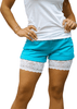 Onyx Thigh Bands White Shorts