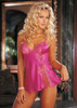 Sexy Baby Doll Charmeuse w/ Lace Pink