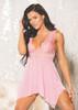 Babydoll G-String Lace Light Pink