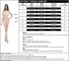 Solid One Piece Swimsuit Chart Size