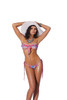 Lycra bandeau top and matching g-string with ruffle trim 3