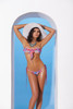 Lycra bandeau top and matching g-string with ruffle trim 1