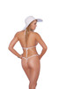 Lycra bikini top and matching g-string with lace up detailing 4
