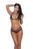 Lycra bikini top and matching g-string.