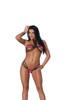 Lycra bikini top and matching g-string with black trim 3