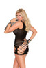Seamless crochet mini dress with cut outs.