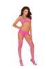 Sheer Thigh Hi neon pink o/s
