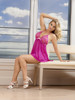 Baby Doll & Thong Set  Pink