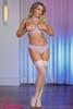 Cupless Bra & Crotchless Panty Set #M105  XL LAV