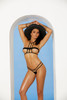Lycra Micro Bikini Caged Top & G-string  Front Color