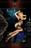 Ballerina Hold Ups Black/black/lurex Laying Full