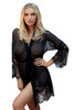 Anette Long Sleeve Sexy Dressing Gown Front